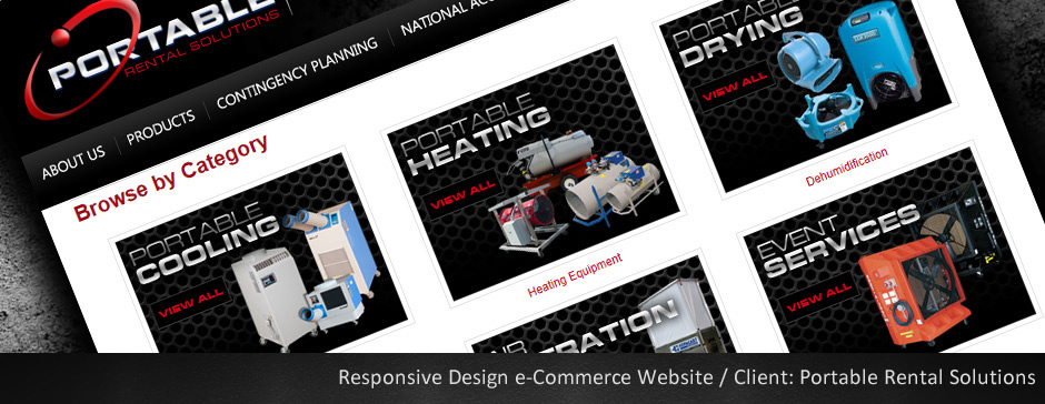 Custom eCommerce Website for Portable Rental Solutions