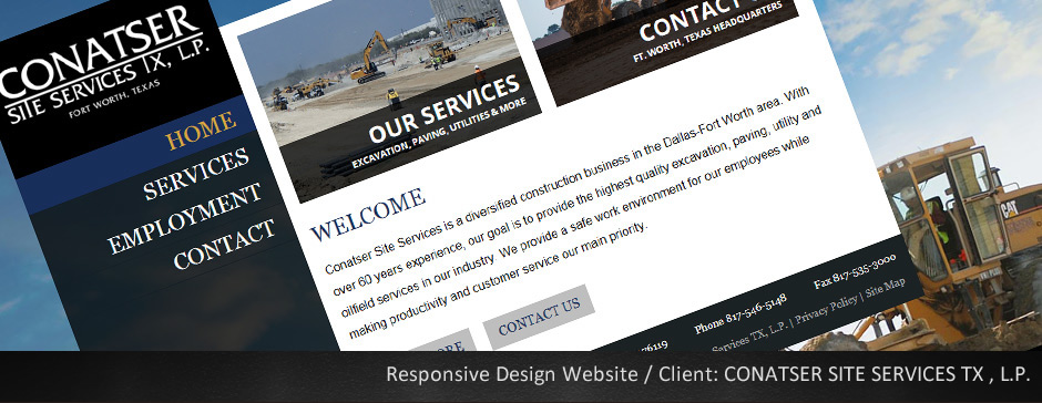Custom Website for Conatser Site Construction
