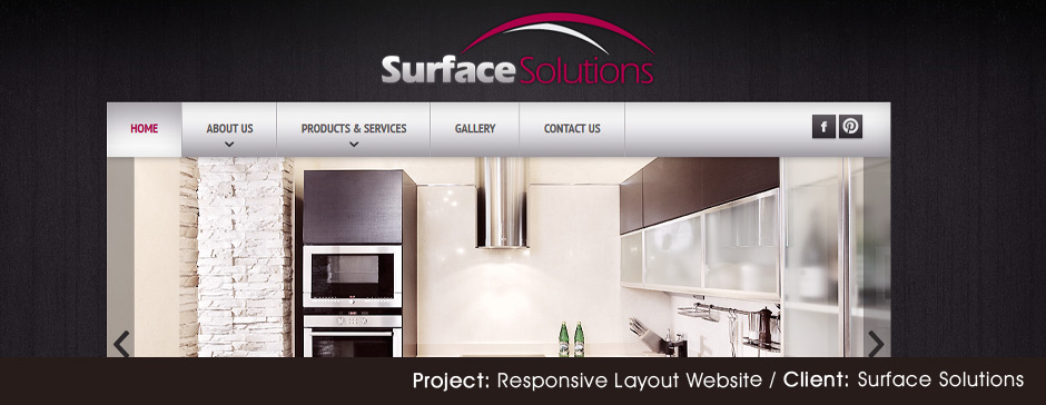 Custom Web Design for Surface Solutions Pro - Mobile Responsive Layout